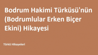 Bodrum Hakimi Türküsü'nün (Bodrumlular Erken Biçer Ekini) Hikayesi