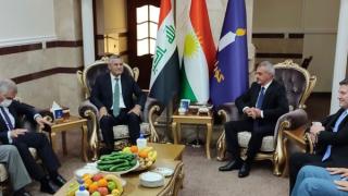 CHP heyeti Türkmen Bakan Maruf ile görüştü