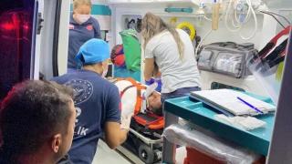 Yaralı şoför 'Kiracı adamım çalışmam lazım' diyerek ambulanstan inmeye çalıştı