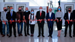 """KKTC Cumhurbaşkanı Ersin Tatar,""""Doğa Yansımaları"""" adlı sergiyi ziyarete açtı"""