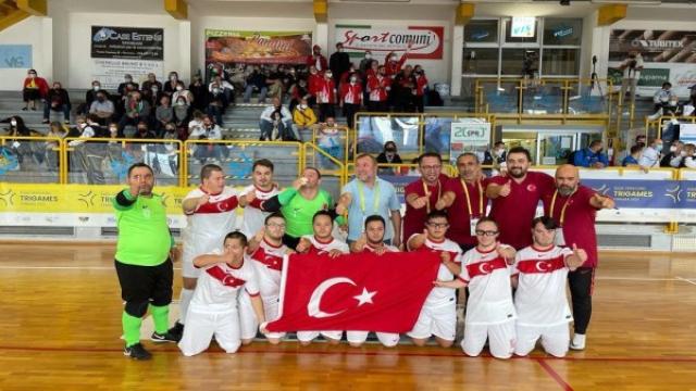 Down Sendromlular Futsal Milli Takımı Avrupa şampiyonu