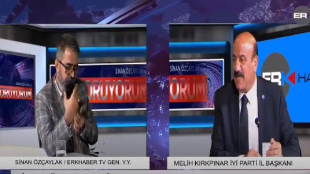 AKP'li belediye başkanından İyi Partili başkana canlı yayında küfür